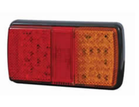 4 Function LED Rear Combination Lamp - Stop/Tail/Direction Ind/Reflex Reflector 12/24V    0-300-50