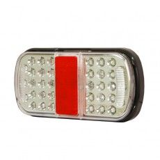 4 Function LED Small Rear Combination Lamp - Stop/Tail/Direction Indicator/Relfex Reflector 12/24V