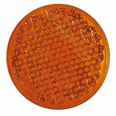 Amber 55mm Round Self-Adhesive Reflector-0-665-80