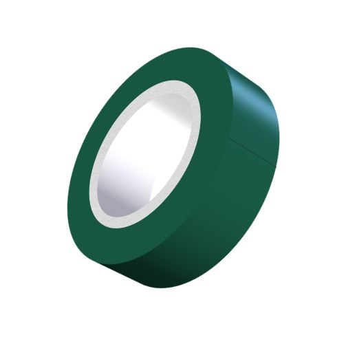 Green PVC Adhesive Tape - 19mm x 5m-5-557-04