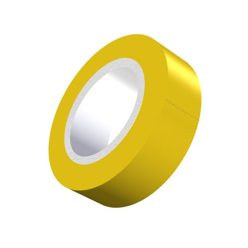 Yellow PVC Adhesive Tape - 19mm x 5m-5-557-08