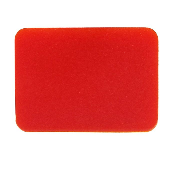Blank Red Rocker Switch Lens - top half-5-791-95