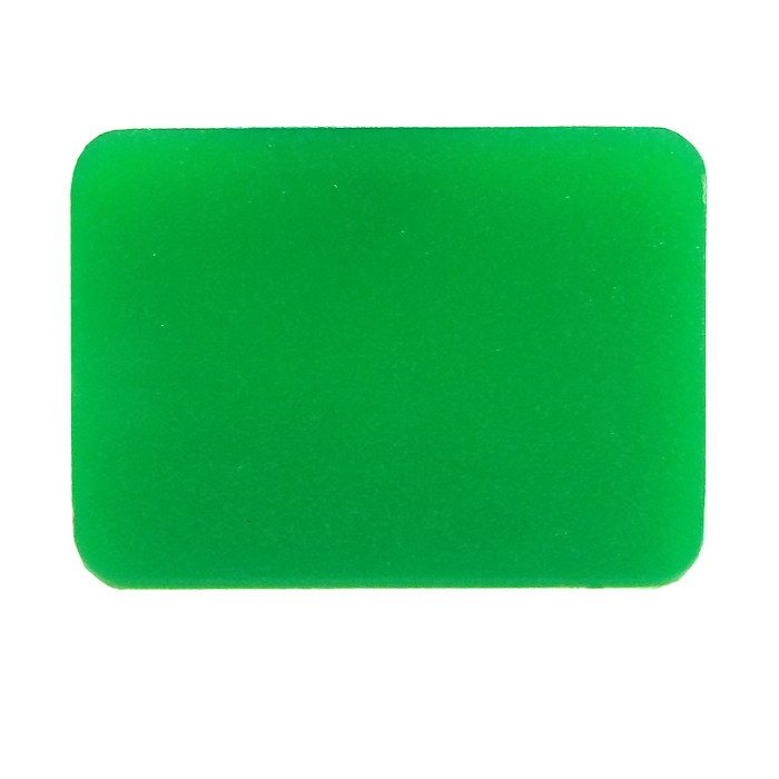 Blank Green Rocker Switch Lens - bottom half-5-792-94