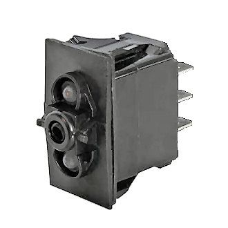 On/Off/On Single-Pole Two-Illumination Two-Position Rocker Switch Body-0-784-52