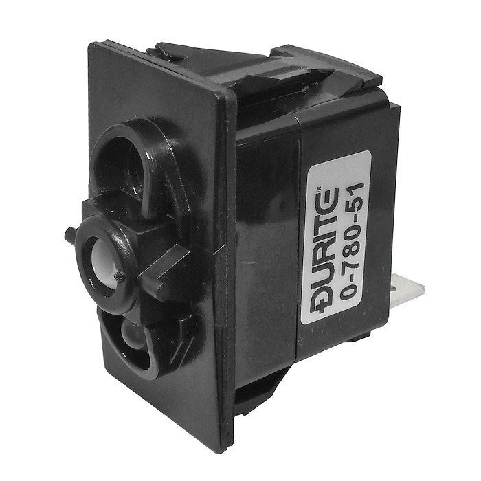 Off/On Single-Pole One-Illumination Two-Position Rocker Switch Body-0-780-51